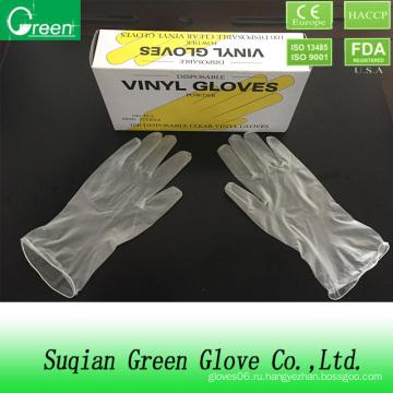 Дешевая перчаточная фабрика / Одноразовые перчатки из винила