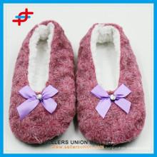 custom logo rose indoor anti-slipper dancing shoes slippers manufacturer
