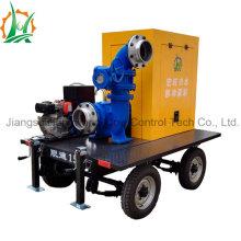 Station de pompage centrifugée à flux mixte à moteur diesel à grand débit