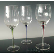 Stem Wine Glass with Infused Color