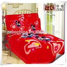 Karikatur-Muster-Baby-Krippe-Bettwäsche-Satz von China-Großverkauf