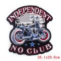 Parches bordados grandes de motocicleta Punk Rock Bike