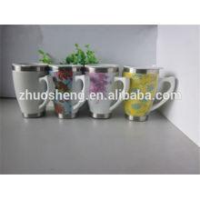 2015 new product BPA free bulk buy from china double wall porcelain mug, ceramic mug, mug for sublimation with handle