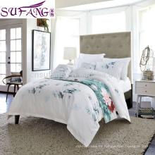 2017 Alibaba Proveedor de Alta Calidad Ropa de cama de Algodón de fibra larga, sábana, juego de cama