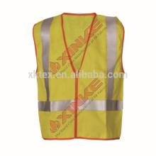 Chaleco ignífugo de alta visibilidad con cinta reflectante