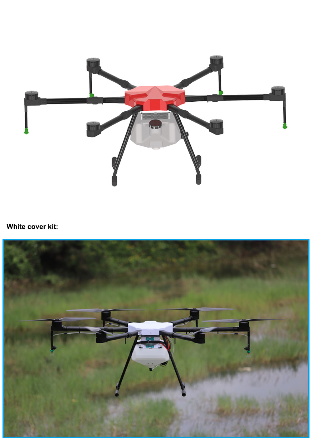 Security and Police Drone or UAV frame
