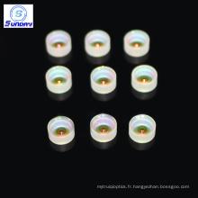 Lentille méniscale optique (convexe concave) de 3 mm de diamètre AR revêtue