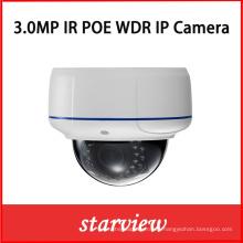 3MP WDR cúpula de vandalismo de seguridad CCTV cámara IP