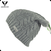 High Quality Winter Acrylic Long Cable Knitting Hat