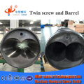 SCAM645 Conical Twin Screw Barrel PA66 recycling granulator machine