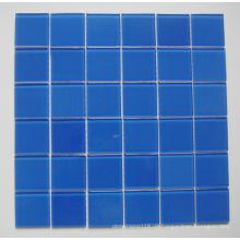 Blaue Mosaik-Glas-Schwimmbad-Fliese (TM8023)