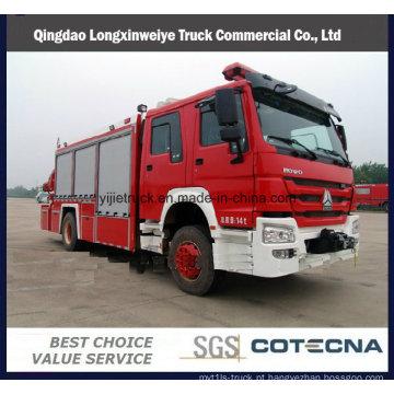 Caminhões de HOWO 8 portas fogo para resgate de emergência
