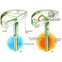 Haute qualité Ohmalloy5j20110 Bande bimétallique pour thermomètre bimétallique