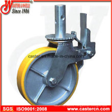 8 Inch Yellow PU Scaffold Caster