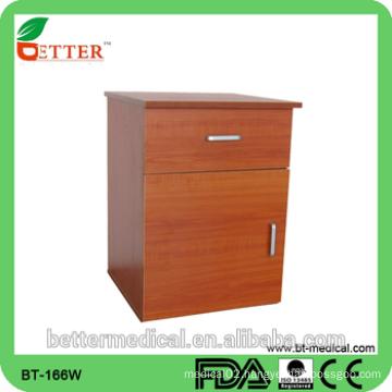 hospital wood bedside locker