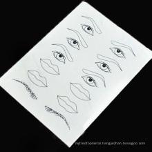 Permanent makeup Practice Skin eyebrow and eyeliner