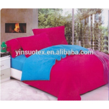 Feste Farbe Ltalian Rose Farbe mit A + B blau verschiedenen Farbe Bett Blatt