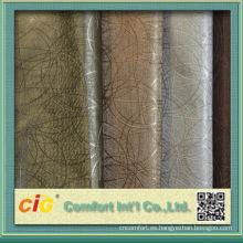La nueva impresión colorida del diseño de la moda y la surtida vacío en relieve pvc saco de cuero saco de tela para bolsas y sofá