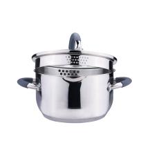 Casserole et casserole en acier inoxydable avec couvercle de passoire