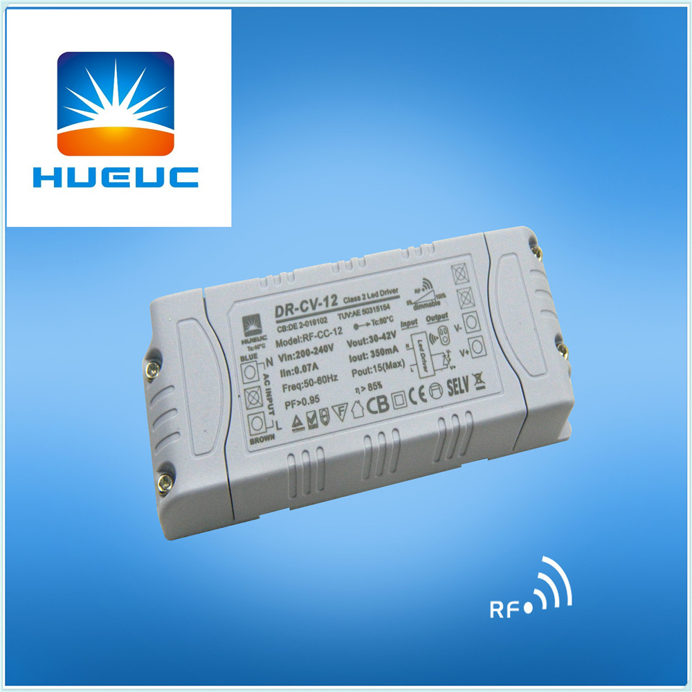 High Efficiency 12W 500ma 24VDC constant current 2.4g RF remote control Power Supply