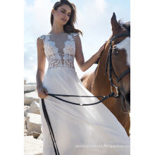 Sexy Chiffon A Line Wedding Dress Evening Gown (BH009)