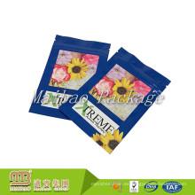 Bolsas planas impresas aduana de la prenda impermeable de las bolsas de la categoría alimenticia superior de la cremallera del sello termal lateral de 3 bolsas