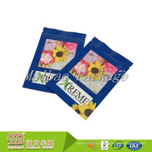 Custom Printed 3 Side Heat Seal Plastic Zipper Top Food Grade Flat Pouches Spice Packaging Bag