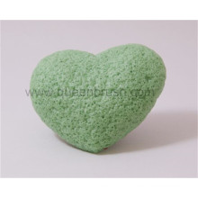 Atacado Coração Shape Dry Konjac Sponge