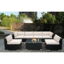 Rota/mimbre al aire libre moderna sofá conjuntos, muebles del sofá de la rota, sofá de la rota