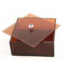 Small Square Plastic Acrylic Storage Box with Lid for Jewelry and Cosmetic