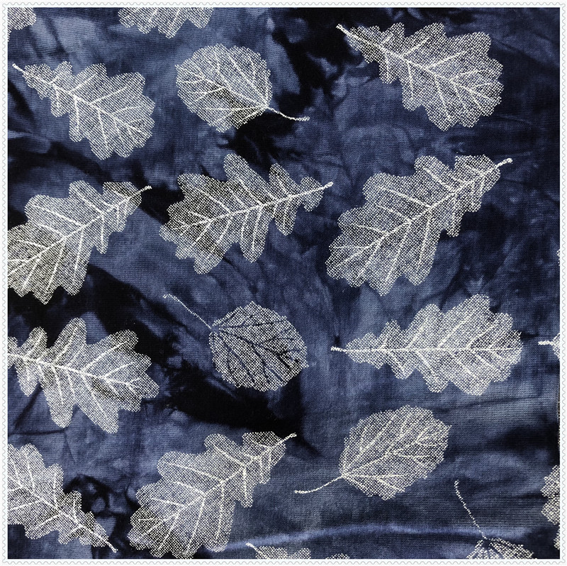 single jersey tie dyed pigment print