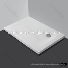Bandeja do chuveiro da resina da pedra da qualidade superior do retângulo for sale