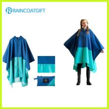 Unisex Mode Polyester PVC Beschichtung Regen Ponchos Rpy-045