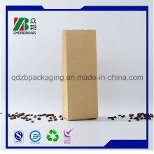 Квадратная печать Satnd up Kraft Paper Bag с пользовательской печатью