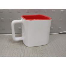Tasse carrée de sublimation, petite tasse carrée, tasse carrée de deux tons