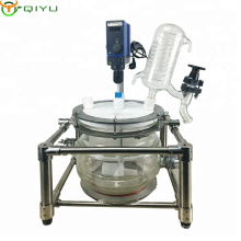 Shanghai customized 20L-100L  chemical glass lab double layer jacketed reactor