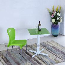 Оптовая кафе квадратный стол и пластиковый стул для общепита (СП-CT841)