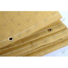 Tissu en fibre de verre traité à la chaleur Couleur dorée