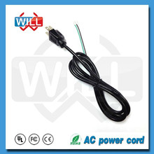 PSE strip 125v 250v japan power supply cord with open end