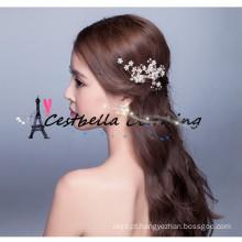 Elegant handmade crystal rhinestone casamento acessórios de cabelo nupcial