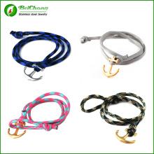 Commerce de gros hommes de couleurs différentes d'ancrage bracelet corde