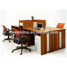 Madeira wenge mesa de escritório de acabamento mesa de tela única para escritório usado