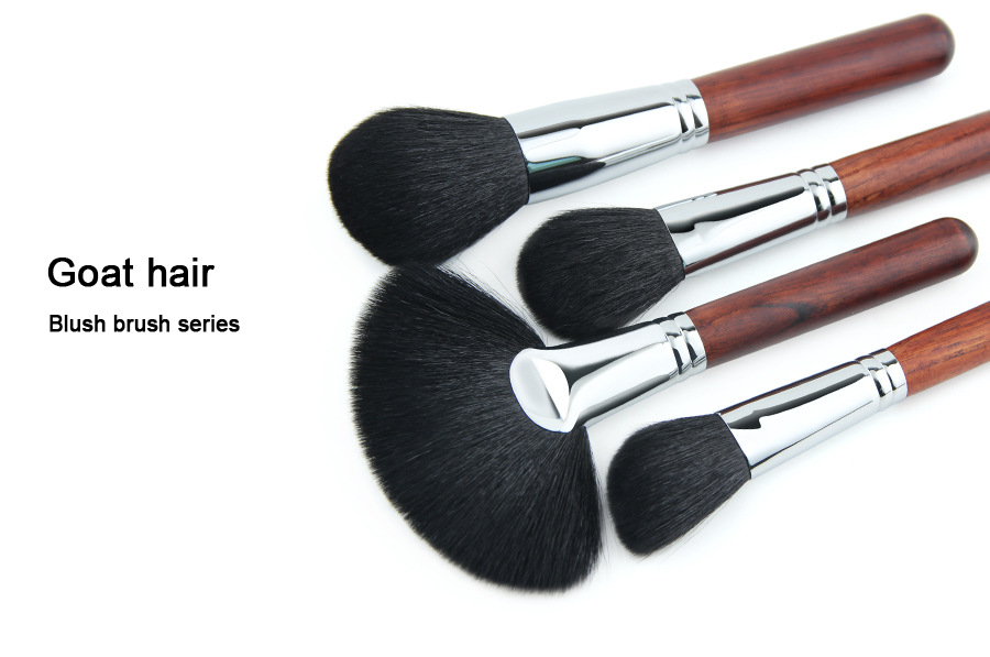 vegane flache Make-up Private Label Bürsten Tasche