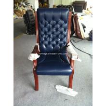 Alta espalda azul marino magistrado Presidente silla tapizada (FOH-A88)