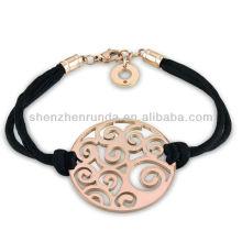 Atacado pulseiras de aço inoxidável para embrulhar pulseira pulseiras charme para meninas