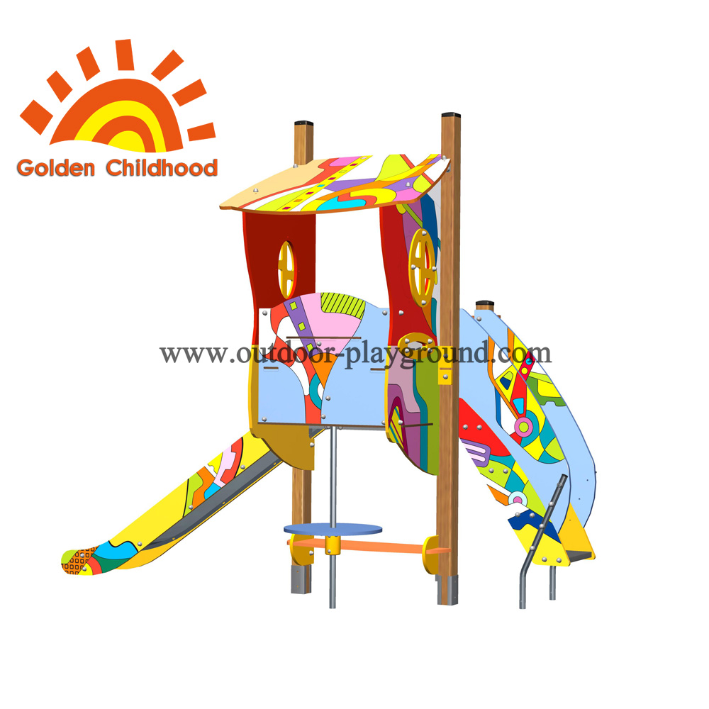 Playhouse With Slide Outdoor Playground Facility For Children