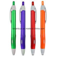 Stylo en plastique transparent, stylo à bille de promotion (LT-C728)