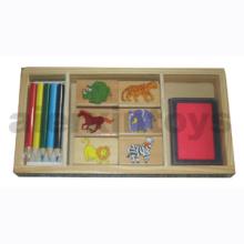 Wooden Stamp Box (80647)