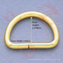 Anel em forma de D de 1 polegada (D1-4S - 10 # x2.54x1.5748cm)