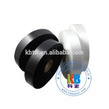 Etiquette de vêtement imprimée noire 100% polyester satiné